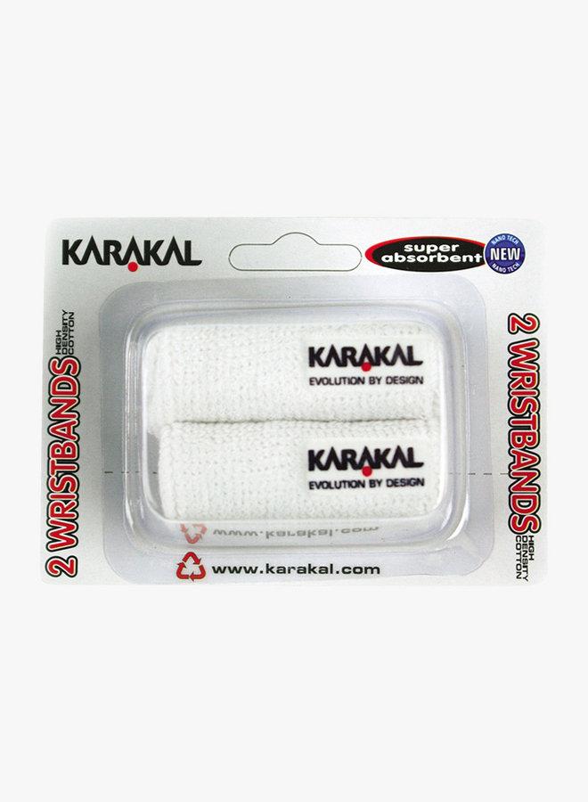 Karakal Wristband X2 - 2 Pack - White