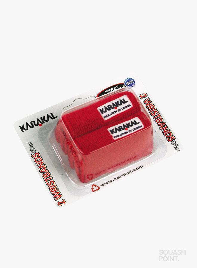 Karakal Wristband X2 - 2 Pack - Red