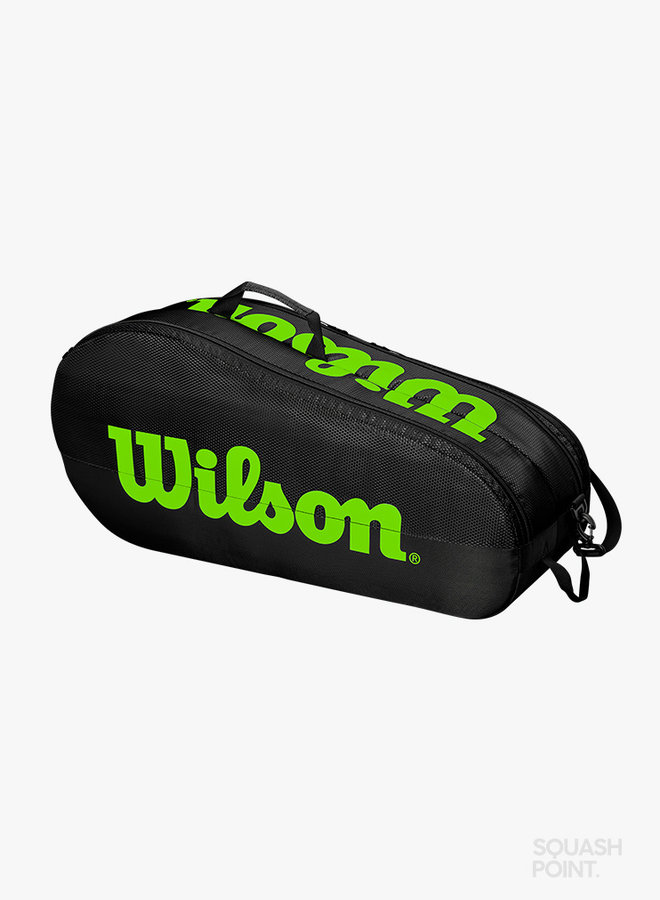 Wilson Team 2 Comp 6 Racket Bag - Black / Green