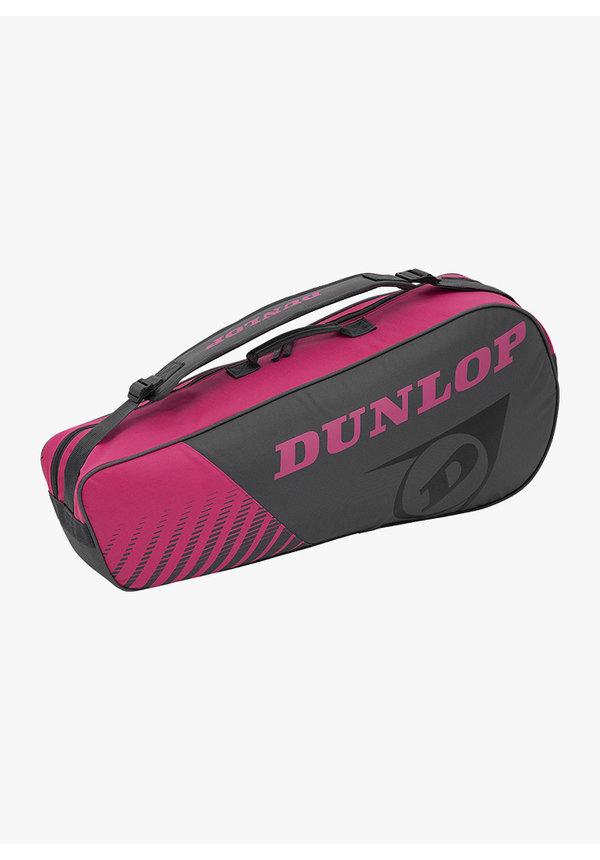 Dunlop SX Club 3 Racket Bag - Grey / Pink