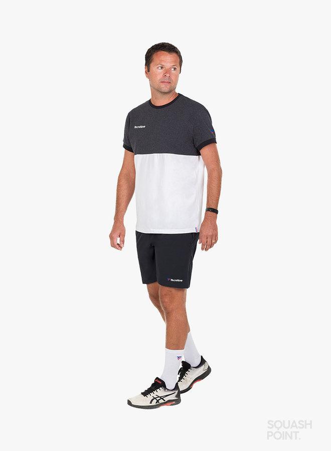 Tecnifibre F1 Stretch Shirt - Black Heather / White