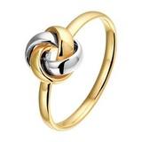 Diamant Centrum Rotterdam Huis collectie   Bicolor gouden ring knoop