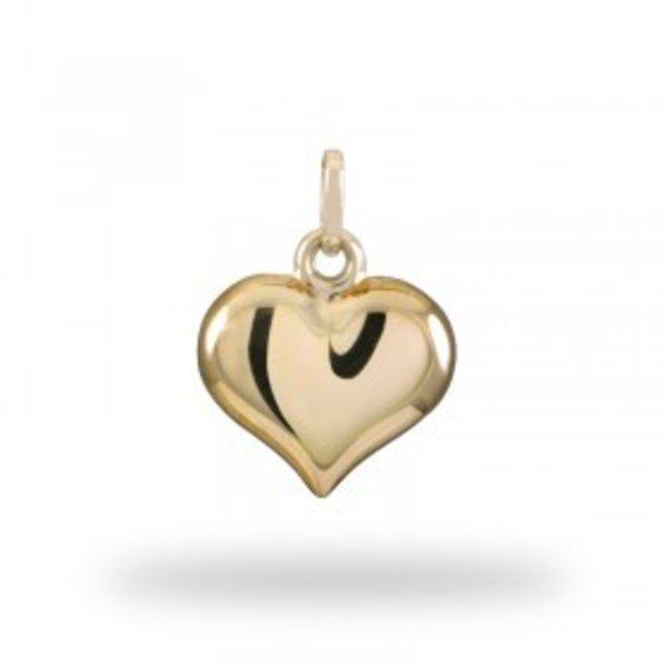 Geelgouden hart hanger.