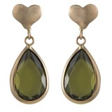 Cataleya Jewels  Queen of heart green