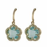 Cataleya Jewels  Earrings Daisy Flower Blue