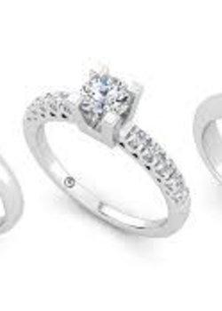 Ringen met diamant