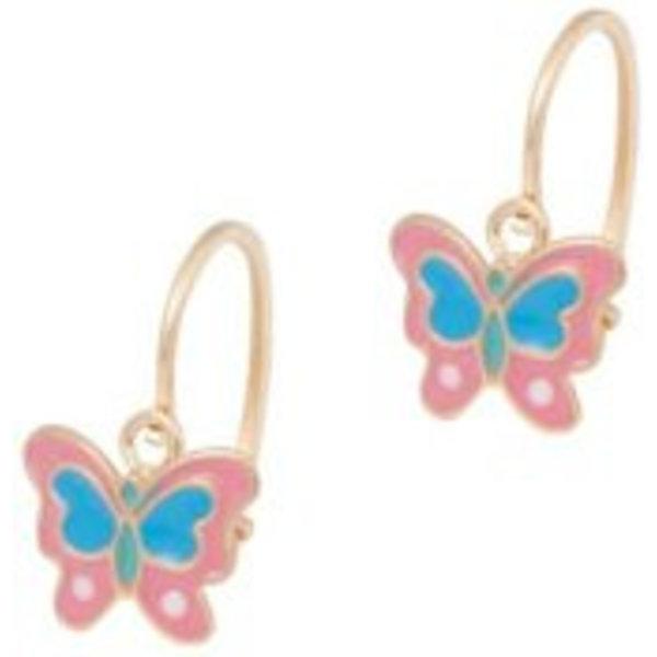 Earrings Kids Butterfly Pink & Blue