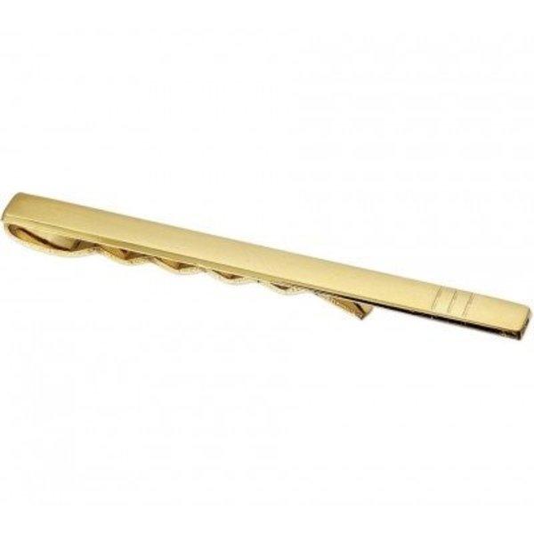 Gouden dasschuif mat en glans 14 karaat goud massief
