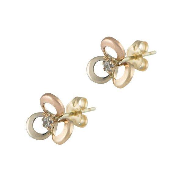 Earrings Flower Tricolor