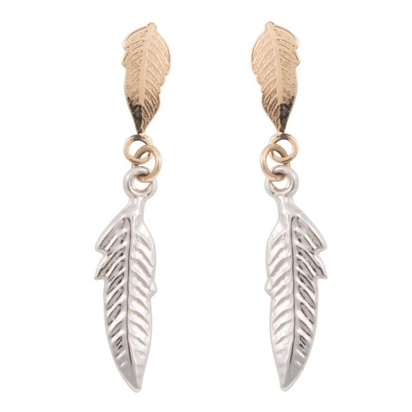 Earrings Feather Bicolor