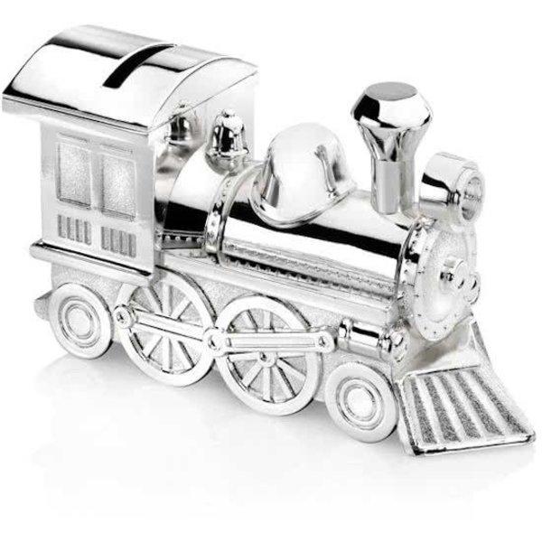 Spaarpot - Locomotief - Verzilverd