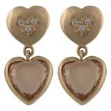 Cataleya Jewels  Earrings Double Heart