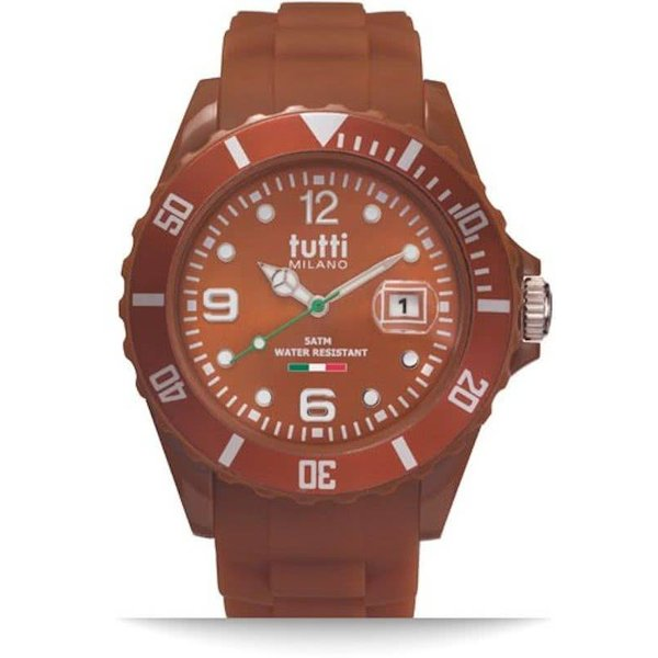 TM002BR-Horloge - 42.5 mm - Bruin - Collectie Pigmento
