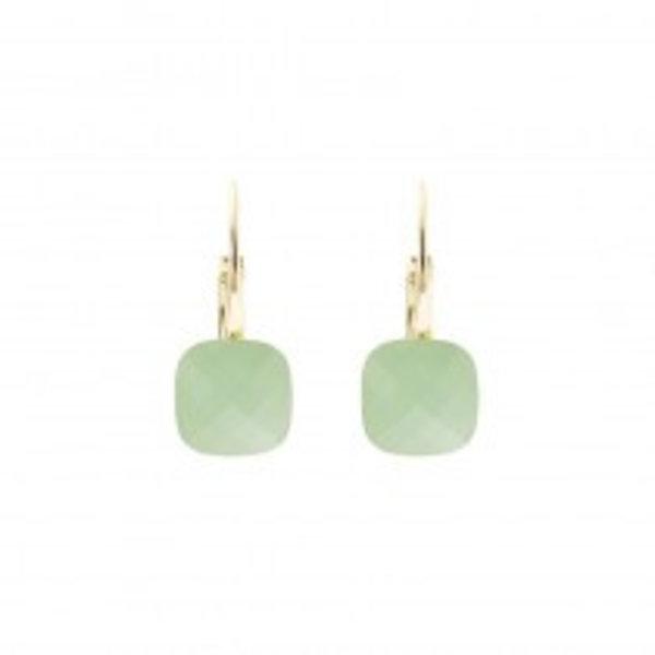 Biba qube mint green earrings