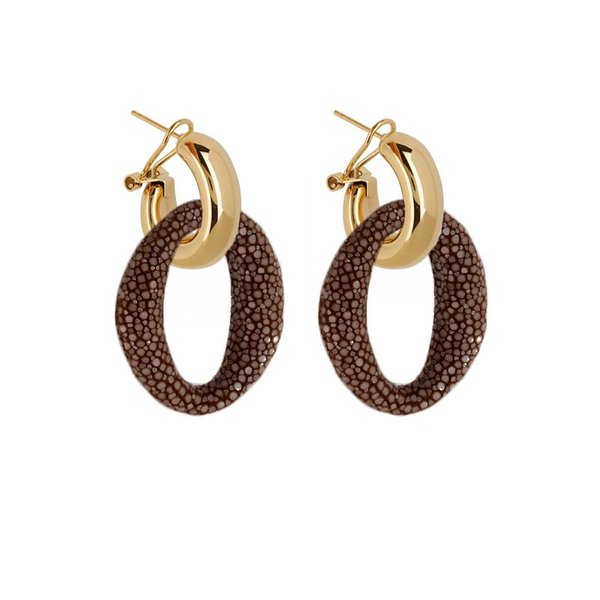 EARRING IBIZA BROWN