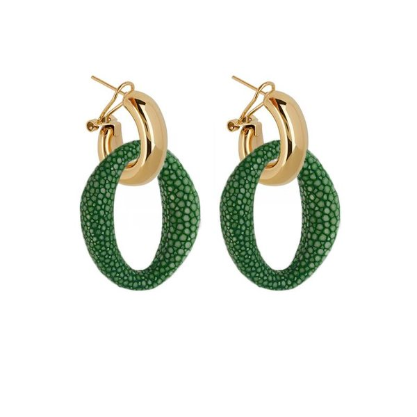EARRING IBIZA GREEN JADE