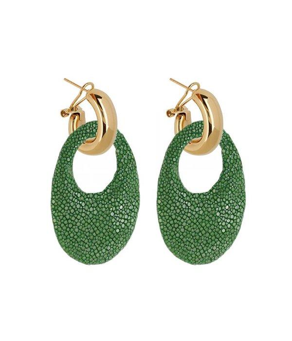 Amjoya EARRING MARBELLA GREEN JADE