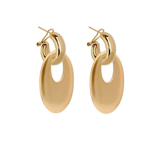 EARRING BUFFELHORN GOLD