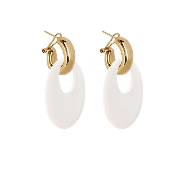 EARRING BUFFELHORN WHITE