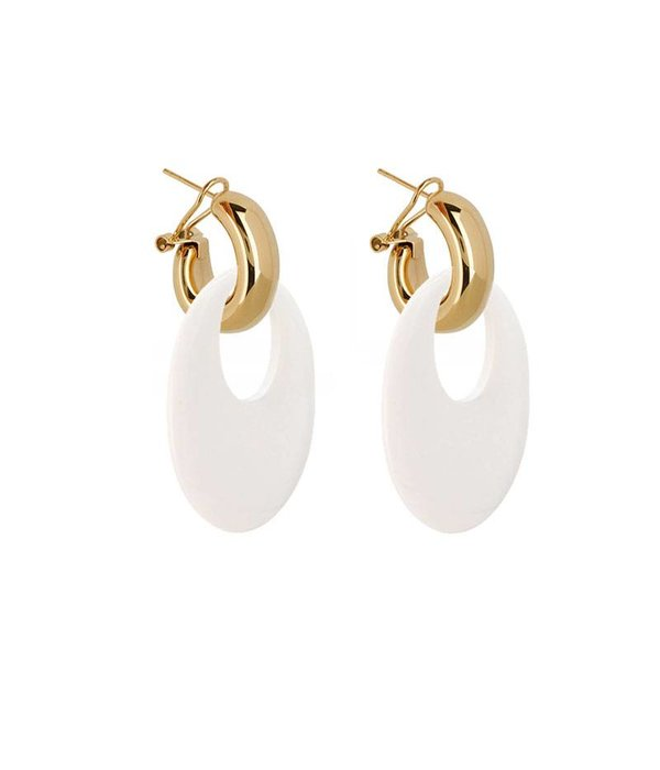 Amjoya EARRING BUFFELHORN WHITE