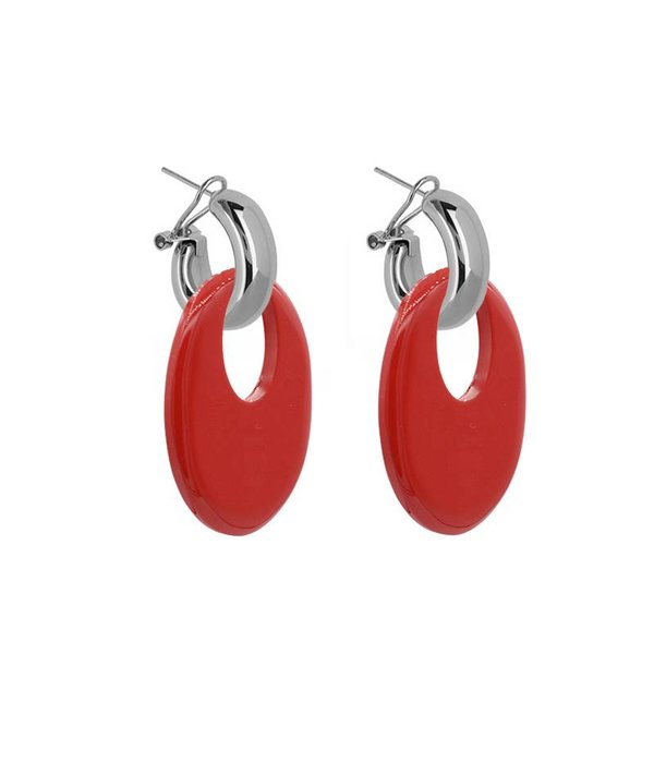 Amjoya EARRING BUFFELHORN RED