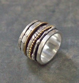Jeh Jewels    18484 - Ring zilver + Gold Filled Speels