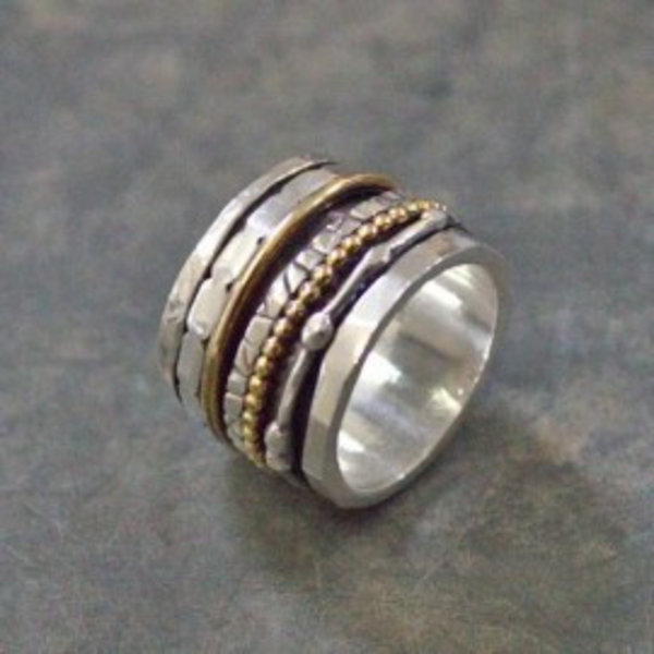 Ring zilver + Gold Filled Speels