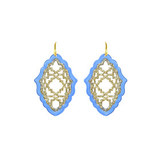 Miccy's sieraden MICCY'S EARRINGS AZIZI LARGE RESIN LIGHT BLUE