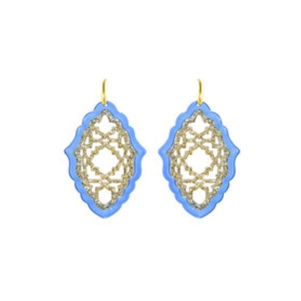 MICCY'S EARRINGS AZIZI LARGE RESIN LIGHT BLUE