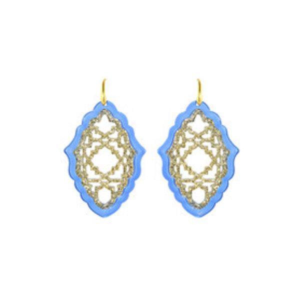 MICCY'S EARRINGS AZIZI LARGE RESIN LIGHT BLUE