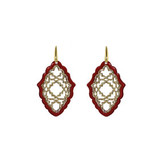 Miccy's sieraden MICCY'S EARRINGS AZIZI RESIN RED