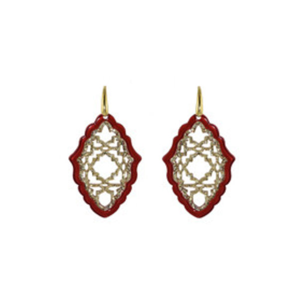 MICCY'S EARRINGS AZIZI RESIN RED