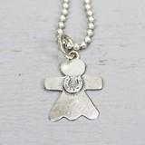 Jeh Jewels  18127 - Hanger zilver oxy engel met hoefijzer