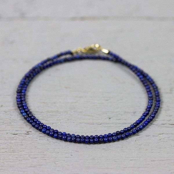 19032 - Collier Lapis Gold Filled sluiting