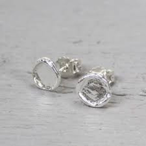 Oorstekers zilver rond (Oorhangers)