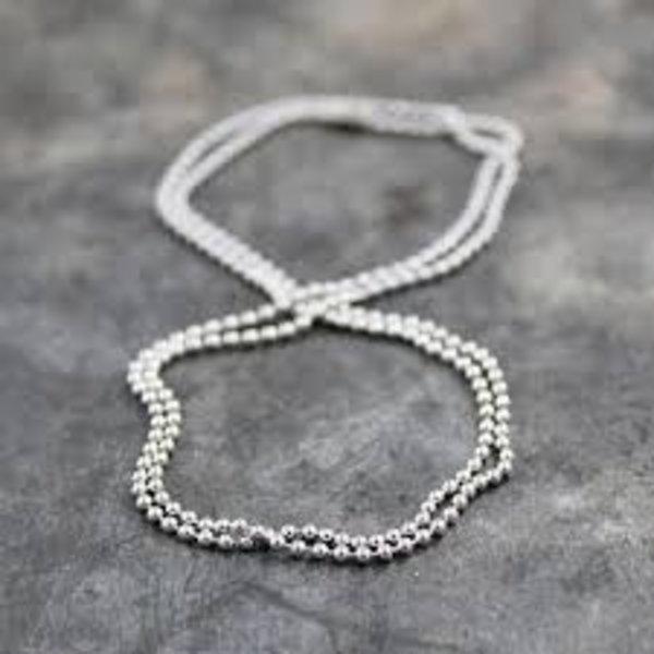 Aluminium bolletjes collier