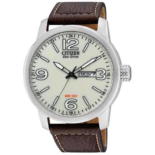 Citizen Eco-Drive - Horloge - 42 mm - Zilverkleurig / Wit - Solar uurwerk