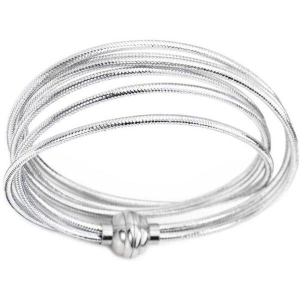 Amen Lurex wikkelarmband zilver