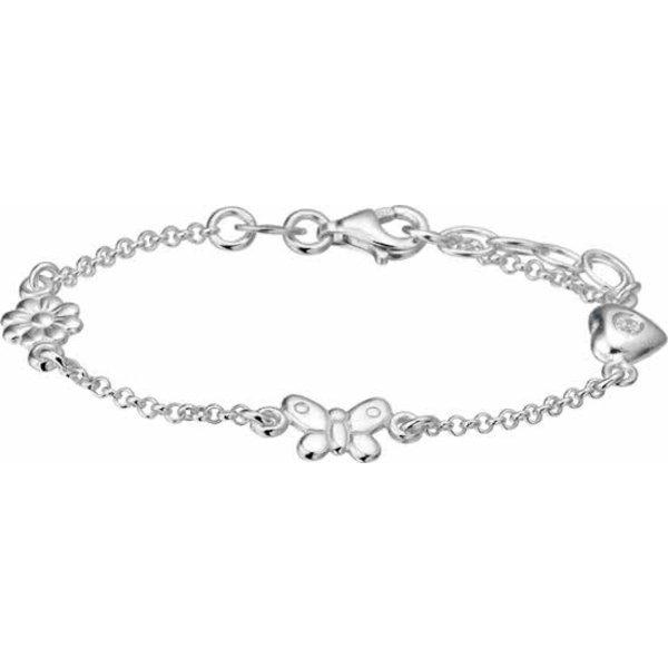 Armband Diverse Bedels 13 + 2 cm - Zilver