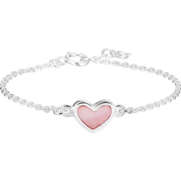 armband - Hart 13 - 15 cm - Zilver