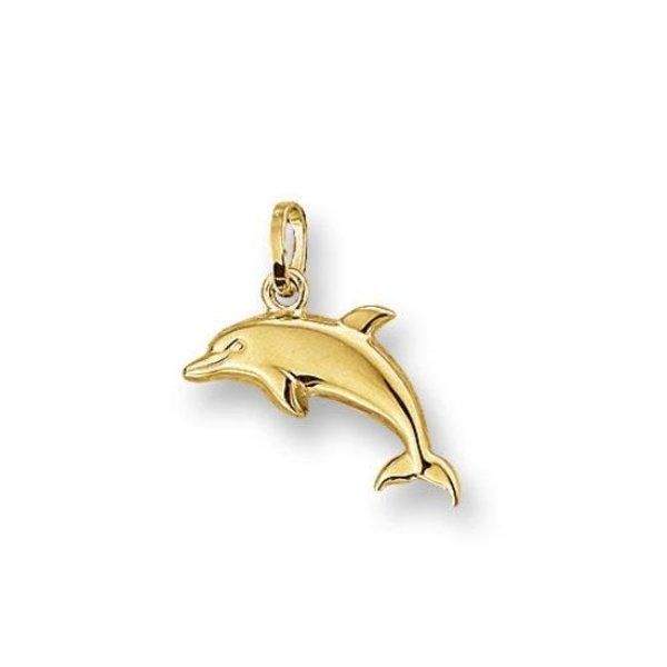Gouden bedel Dolfijn groot