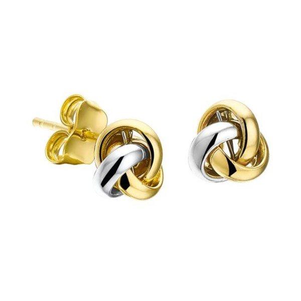 Oorknoppen Knoop - Bicolor Goud
