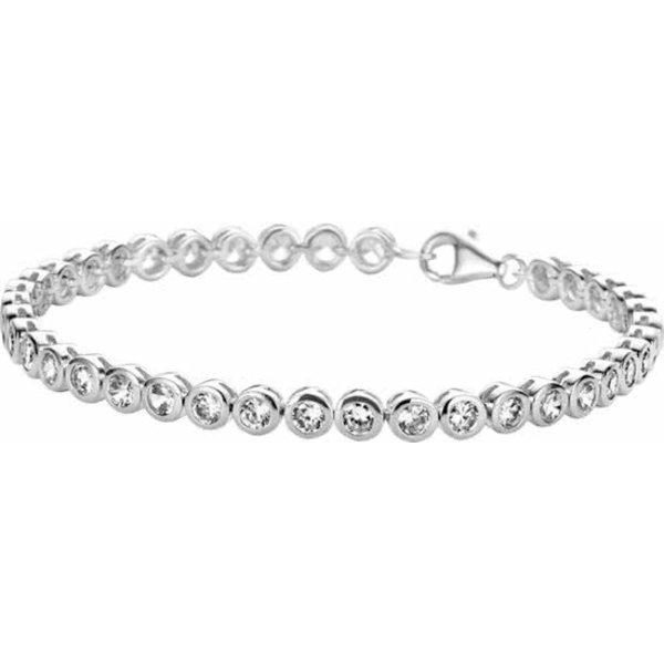 Tennisarmband Zirkonia - Zilver Gerhodineerd