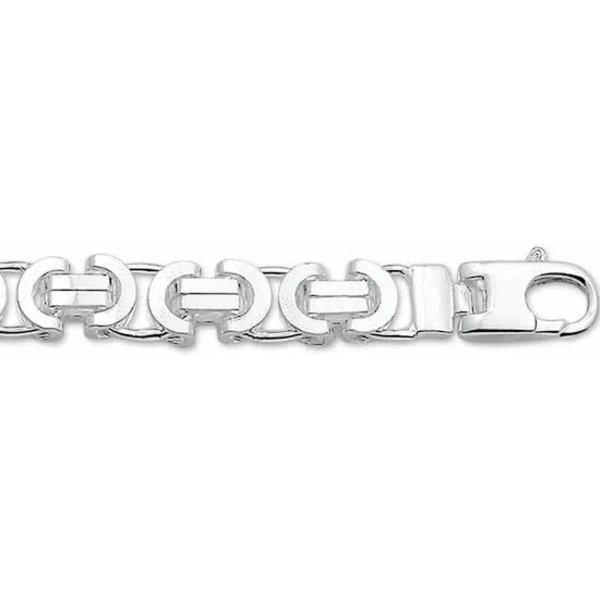 Ketting Konings Plat 8,5 mm - Zilver