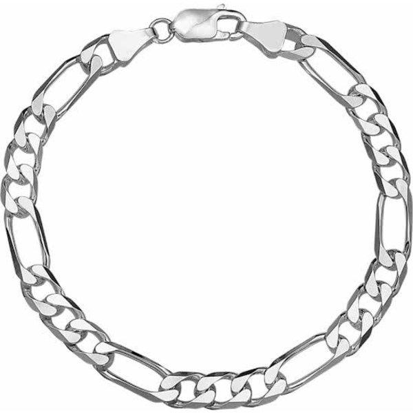 Armband Figaro 6 mm - Zilver