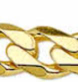 Diamant Centrum Rotterdam Huis collectie    Armband Figaro 5,0 mm - Zilver Geel verguld
