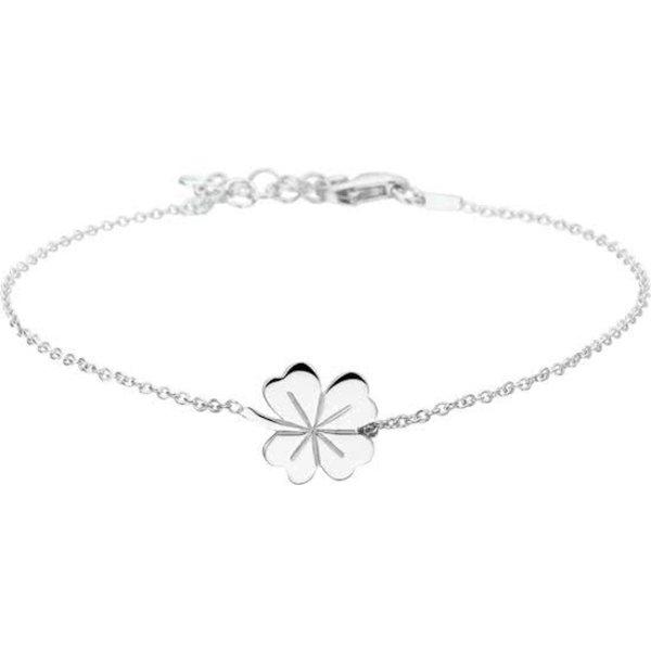 Armband Klaver - Dames - Zilverkleurig - 20 cm