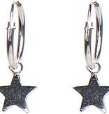 karma Hoops Symbols Star Silver Oorbellen M1904