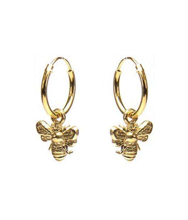karma Hoops Bee Goldplated Oorstekers M1981