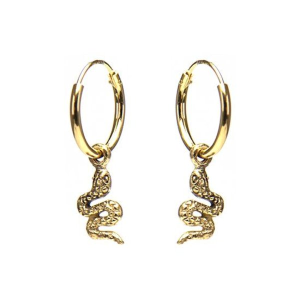 Hoops Snake Goldplated Oorstekers M1990